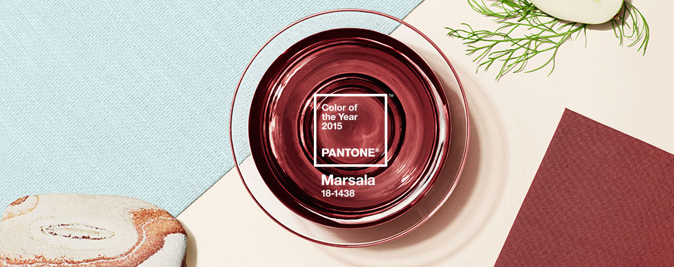 Pantone Introducing Color of the Year Marsala banner