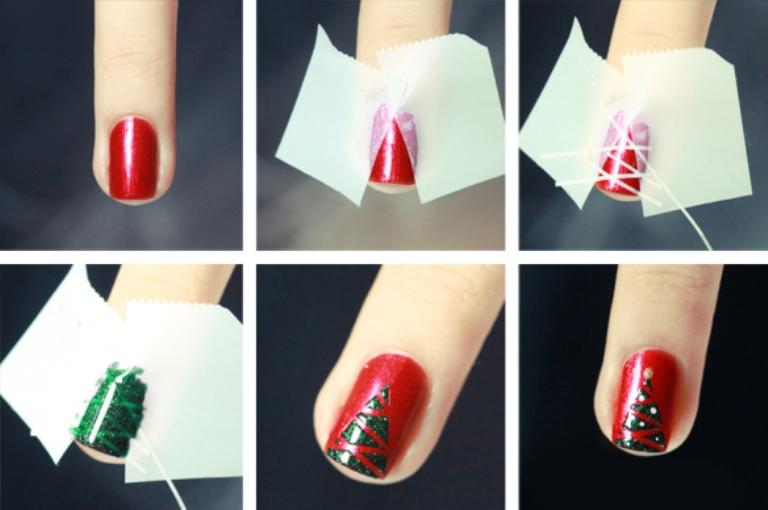 nail-art-christmas-tree