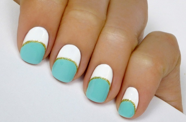 Mint-White-and-Gold-Striped-Mani-Tutorial - Copy