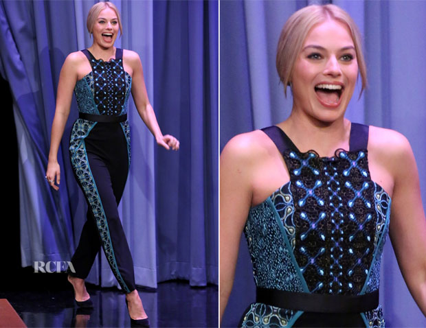 Margot-Robbie-In-Peter-Pilotto-The-Tonight-Show-Starring-Jimmy-Fallon 21f1a