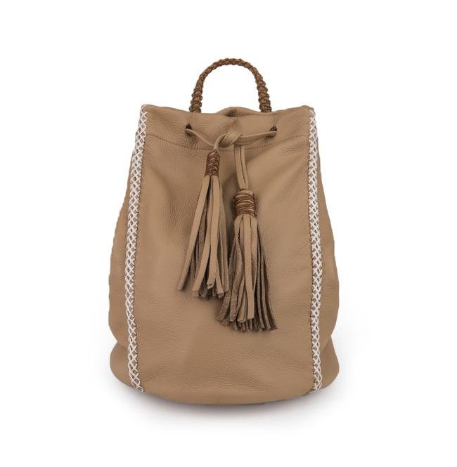 17.Callista Crafts SS15 backpack lattice beigesand 61759