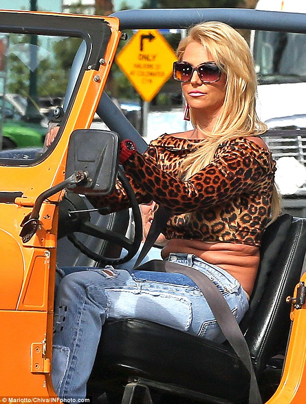2768A03300000578-3032605-Oops Britney Spears showed off her extra curves in a leopard cro-m-11 1428620739427 1 e9ddf