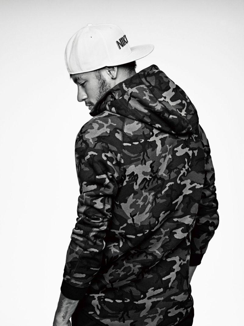 Neymar Jr wearing the Nike Tech Fleece Hoodie 1bbd0