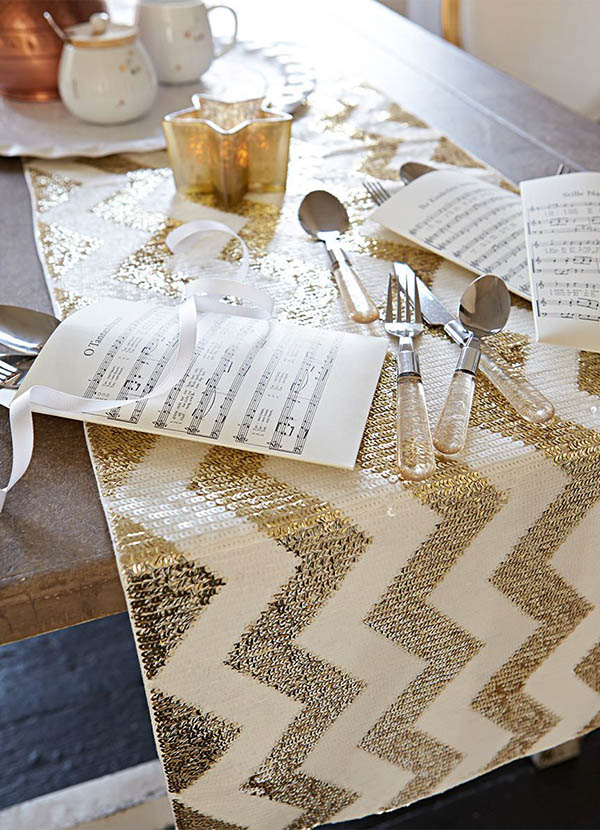 gold chevron runner 7cc7e