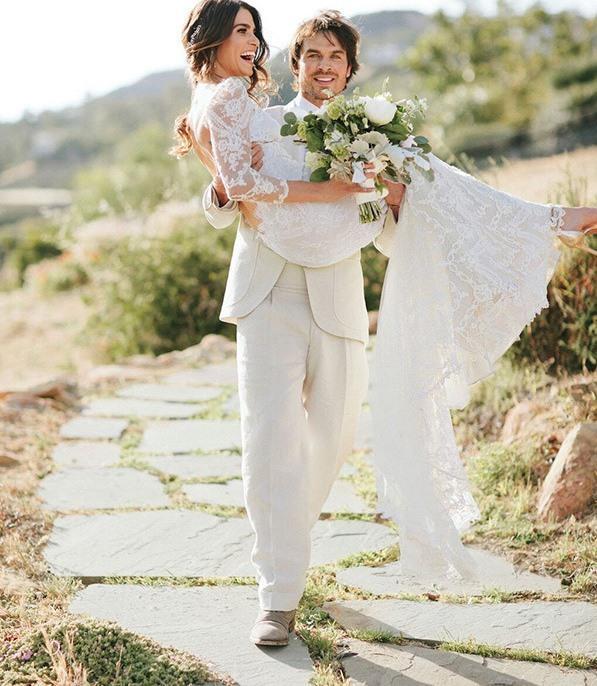nikki reed ian somerhalder stunning wedding day photos lead 6f511