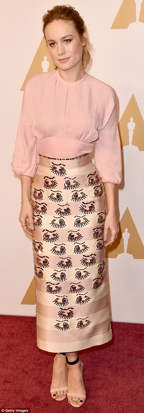 31011F3E00000578 3437815 Pretty in pink Also present was Best Actress nominee Brie Larson a 4 1454968415363 b21d0