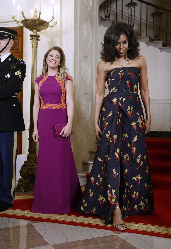 Michelle Obama Jason Wu Gown Canada State Dinner 2016 2 ee450