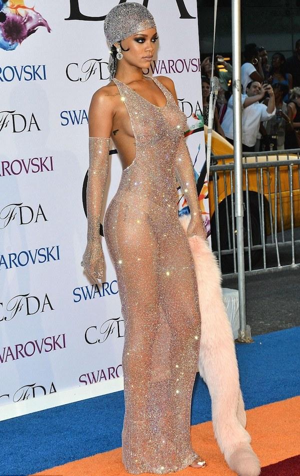 3 Rihanna cfda icon fashion adam selman dress 2014 cf12b