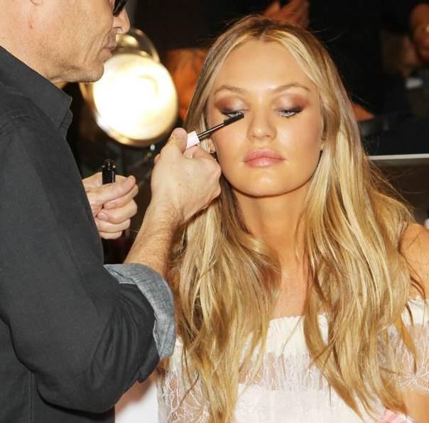 Victorias Secret Fashion Show 2012 backstage beauty hair makeup Candice and Tom Pecheux 50b7f
