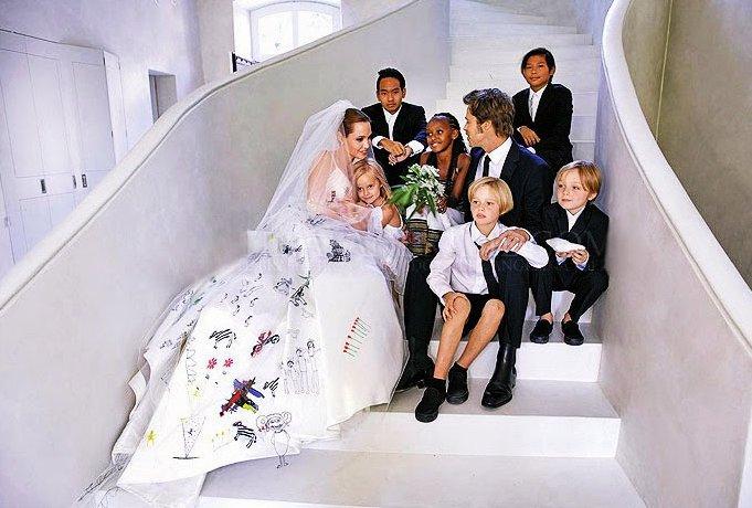 Brad Pitt Angelina Jolie Wedding Photo