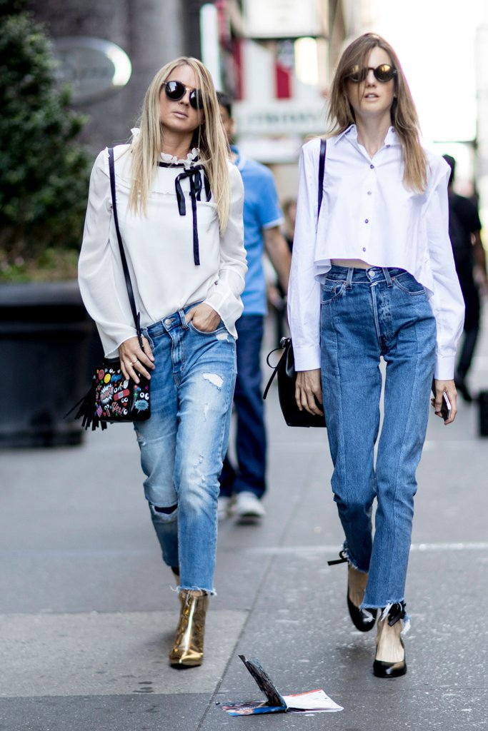 Spice Up Button Down Denim Combo Pair Statement Shoes