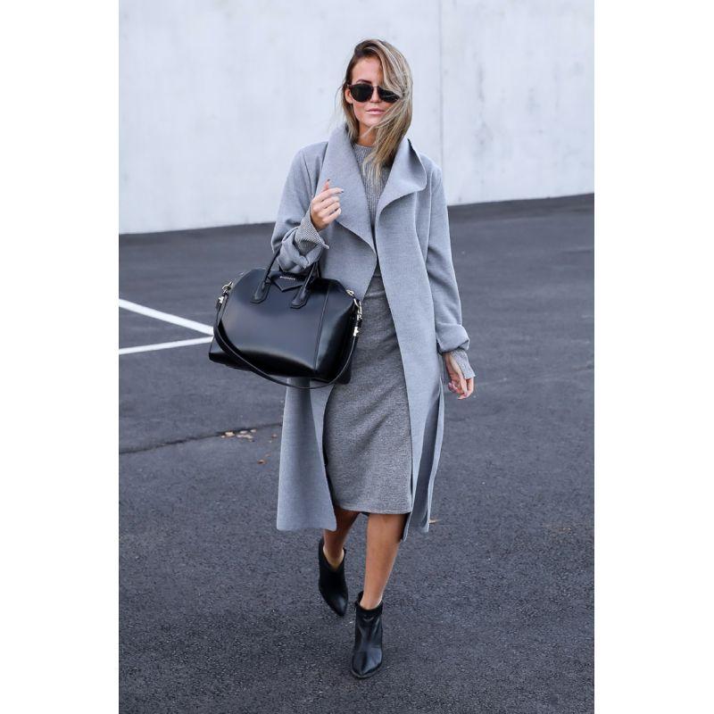 kim grey coat