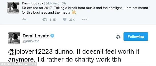 lovato break tweet