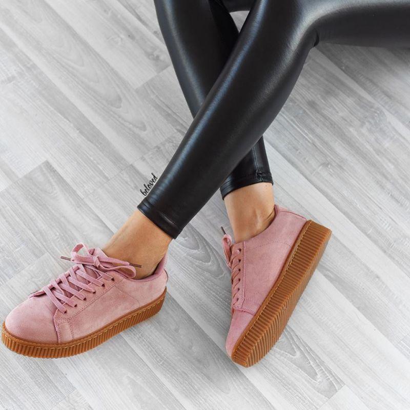 pink creepy sneaker