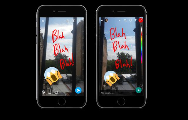 wersm snapchat versus whatsapp new