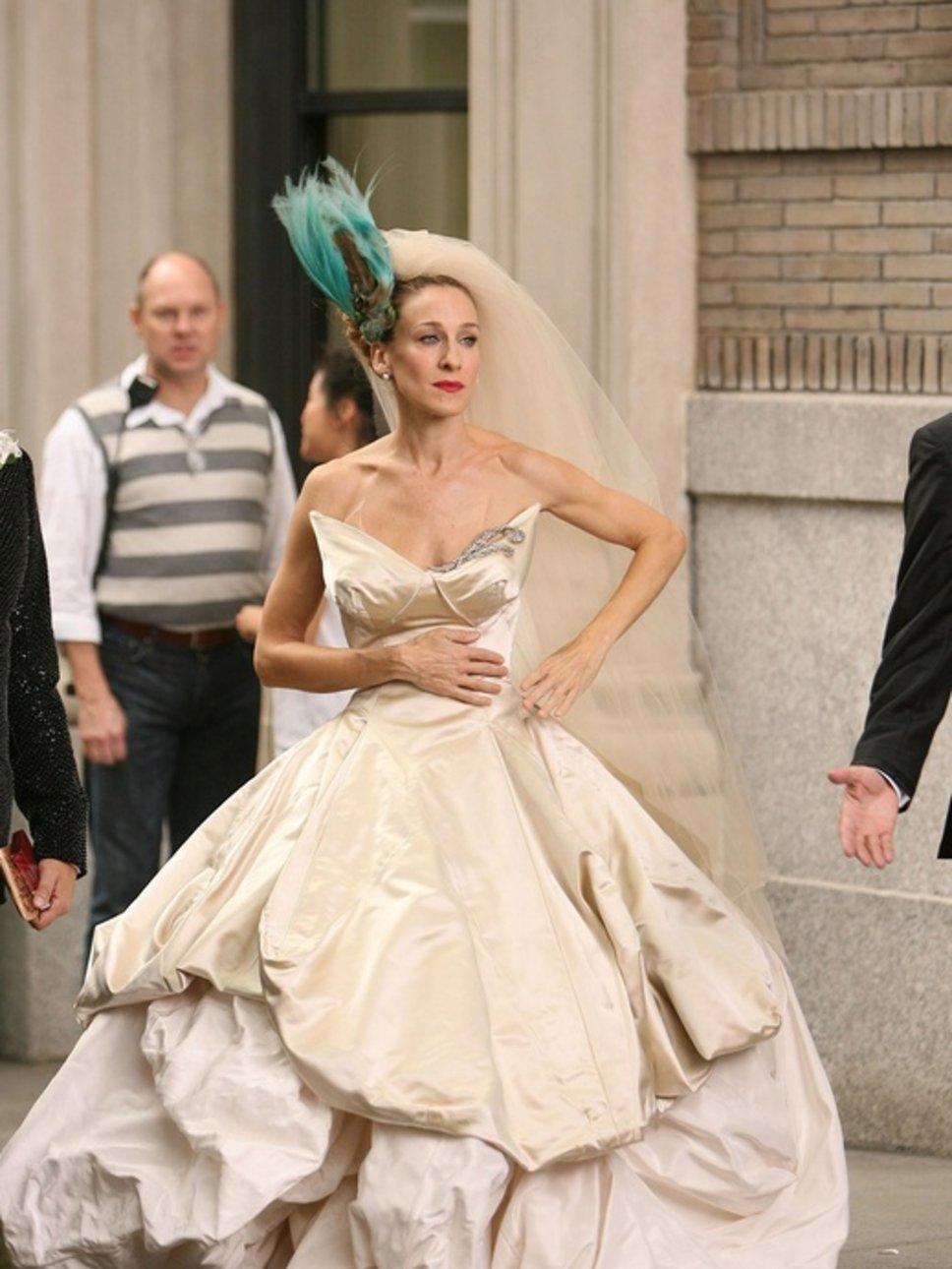 carrie bradshaw wedding dress replica