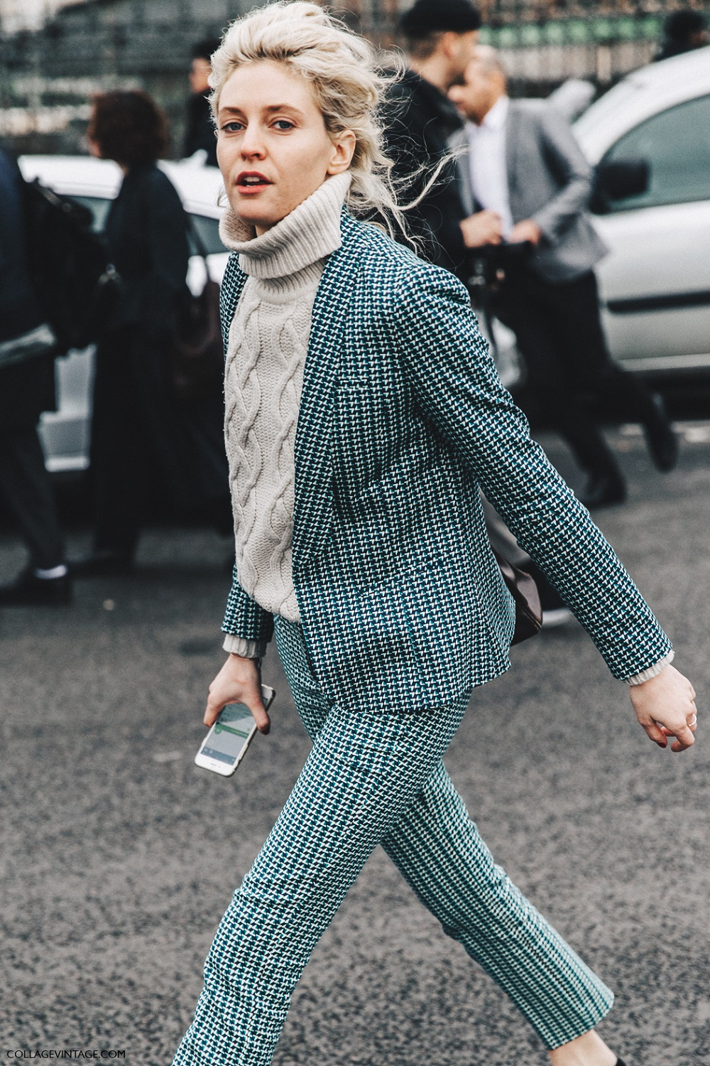PFW Paris Fashion Week Fall 2016 Street Style Collage Vintage Matchy Matchy