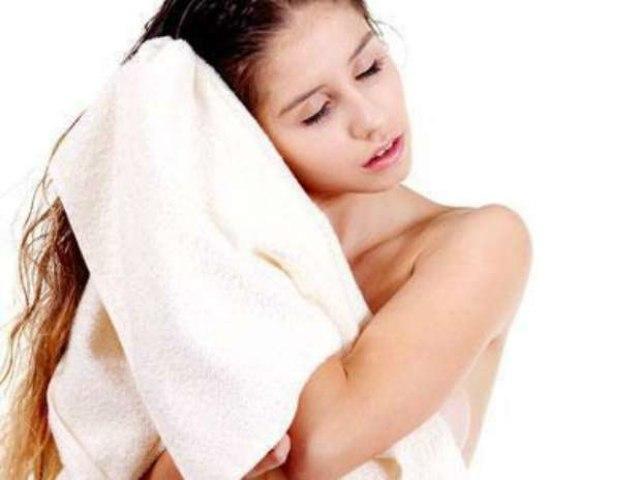 secado con toalla