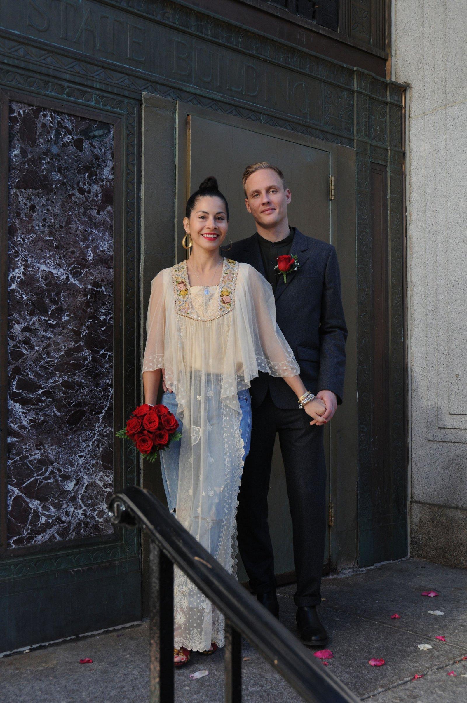 01 bride wearing denim