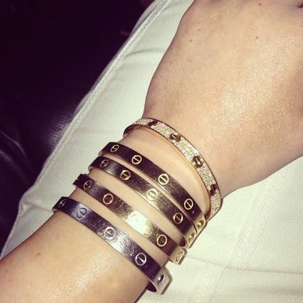 Kylie Jenner Cartier Bracelets Kylie Jenner Cartier Love Bracelets 6