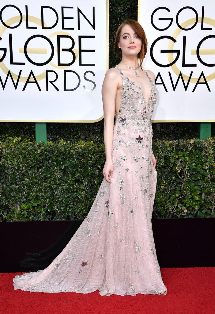 Emma Stone Valentino Dress Golden Globe Awards 2017