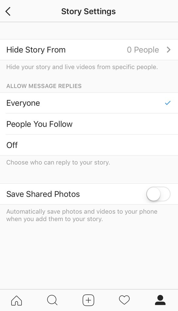 Hide your live video from different people