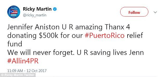 4545DFDD00000578 4975686 Gratitude The La Vida Loca singer took to social media to thank a 134 1507848462170
