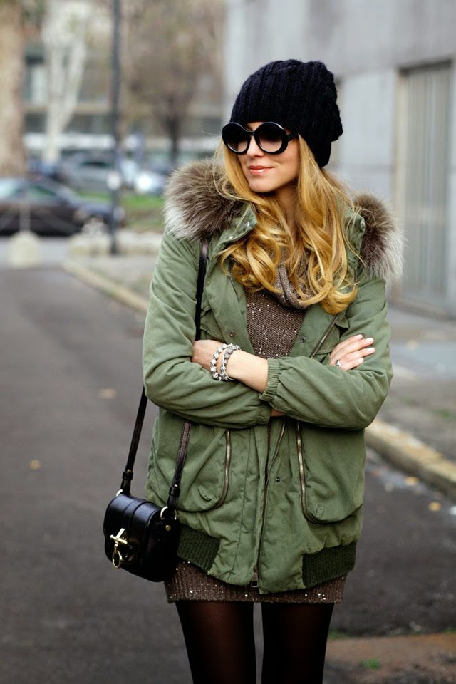 how to wear parka street style 1