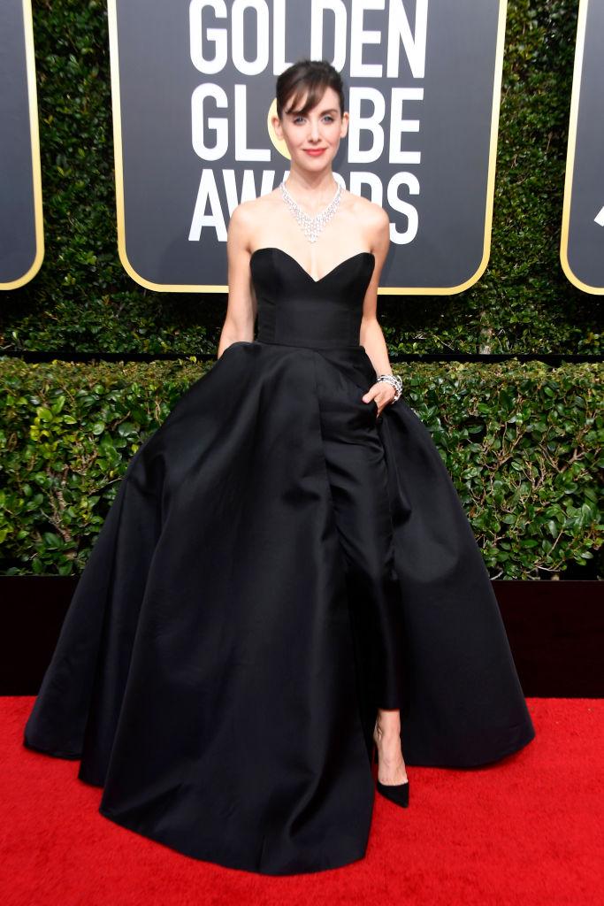 Alison Brie Golden Globes 2018