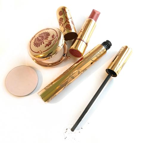 besame cosmetics powder lipstick and mascara