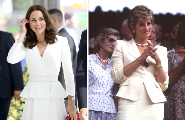 kate middleton princess diana style same outfits