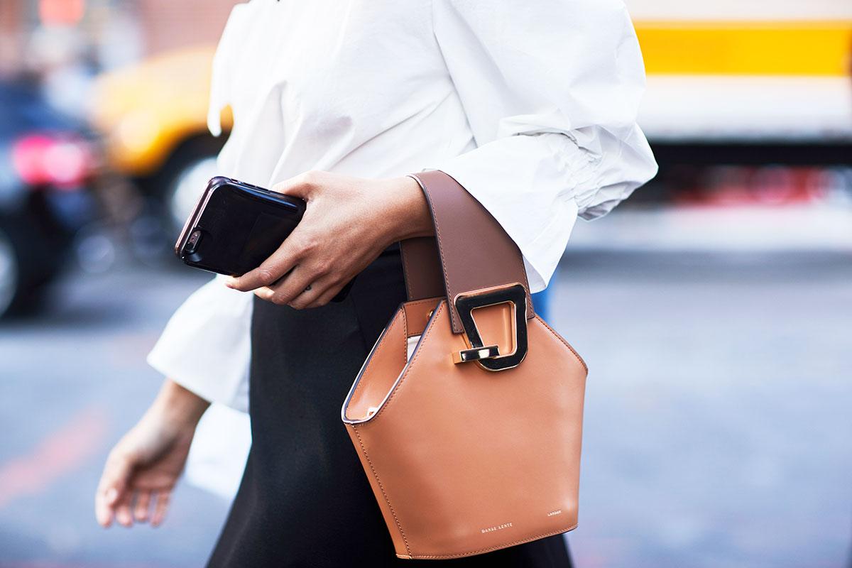 new york fashion week street style danse lente bag