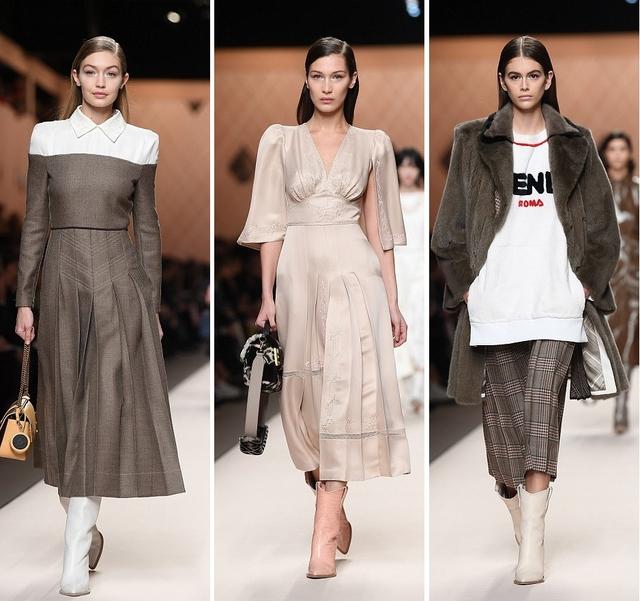 gigi bella kaia fendi fashion show