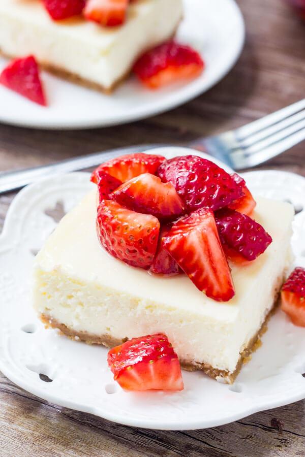 Fresh Strawberry Cheesecake Bars 3