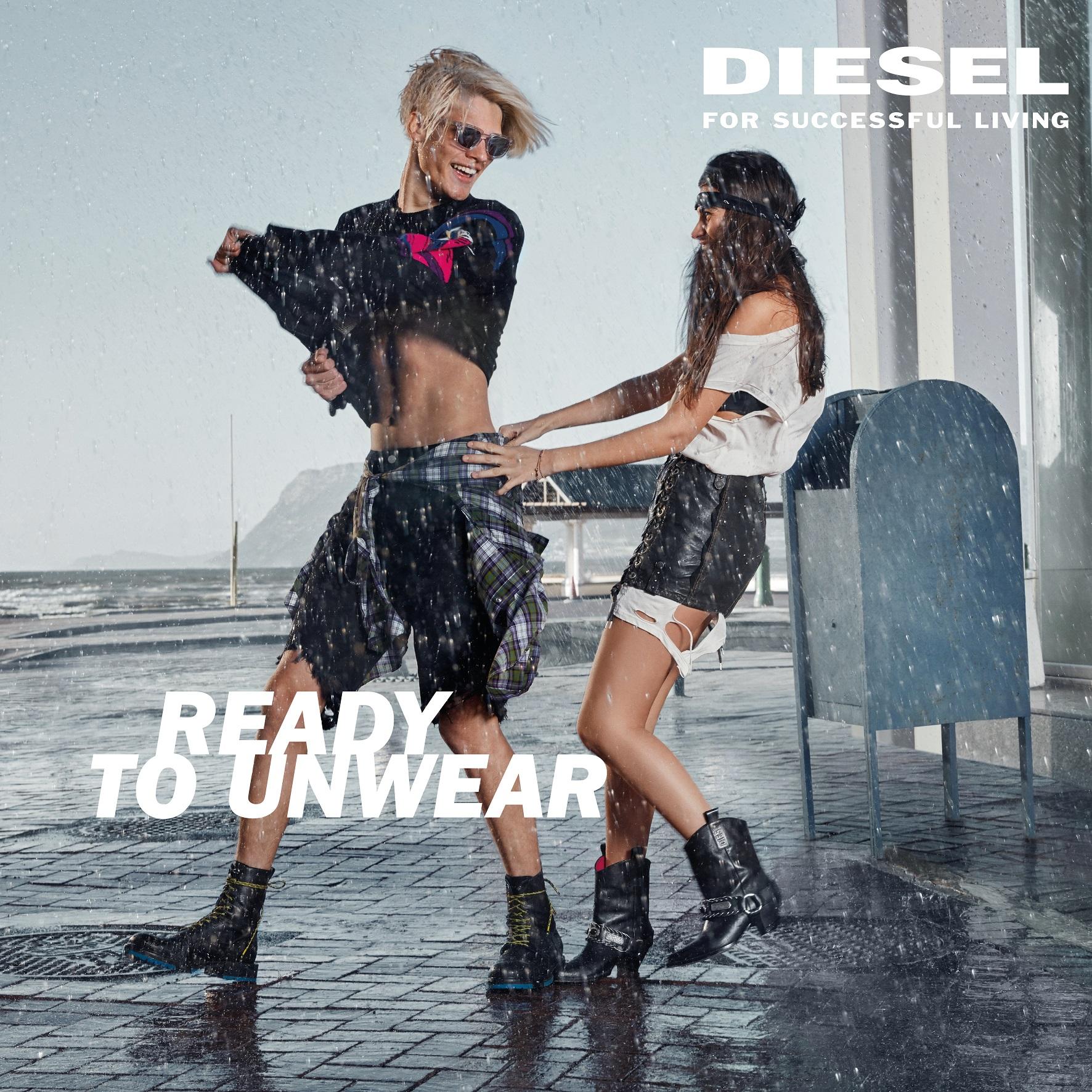 DIESEL SS18 UNWEAR RETAIL Rain