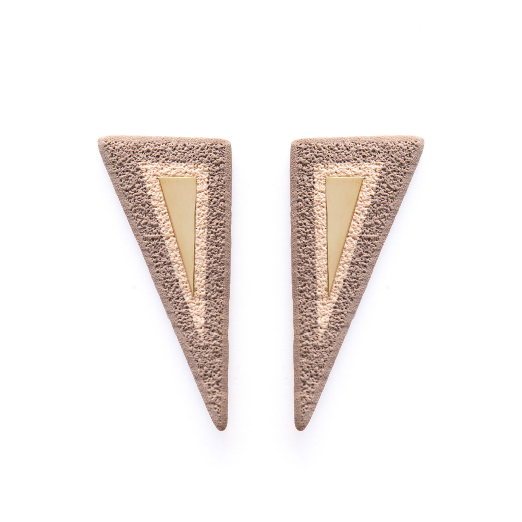 LimeLight jewelry collection by Katerina Sfinari geometric modern polymer clay handmade earrings