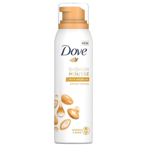 Dove Showering Mousse Argan Oil