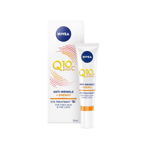 Σβήνει τα σημάδια της κούρασης και τις λεπτές γραμμές. Nivea Q10 Plus C Αντιρυτιδική Θεραπεία Ματιών