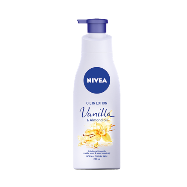 Nivea Oil in Lotion Vanilla Almond Oil