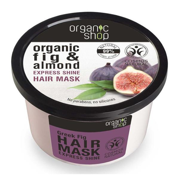 Μάσκα μαλλιών. Natura Siberica Organic Shop Organic Fig Almond Express Shine Hair Mask