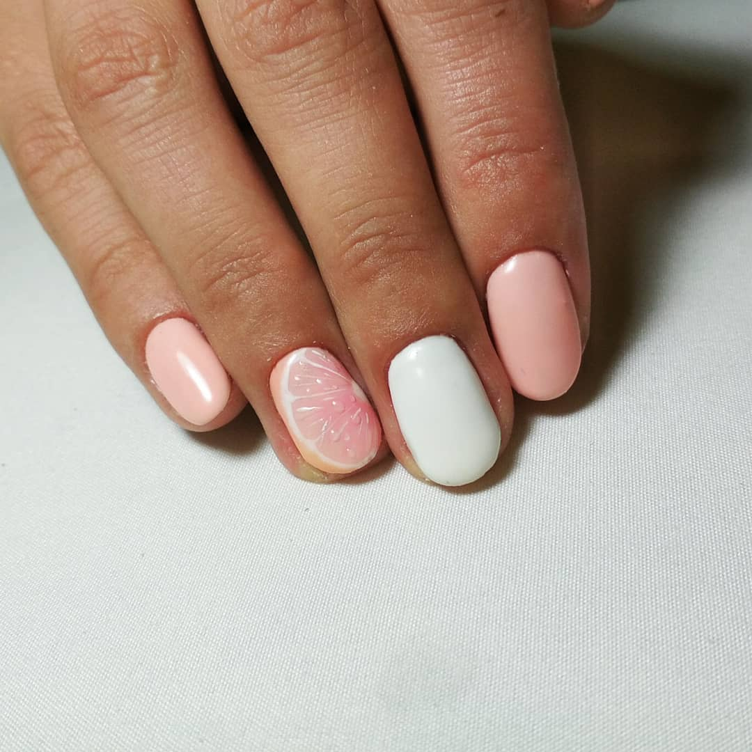 grapefruit nails