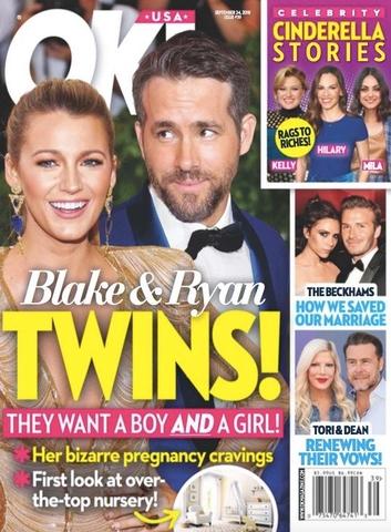 Ryan Reynolds Blake Lively Twins