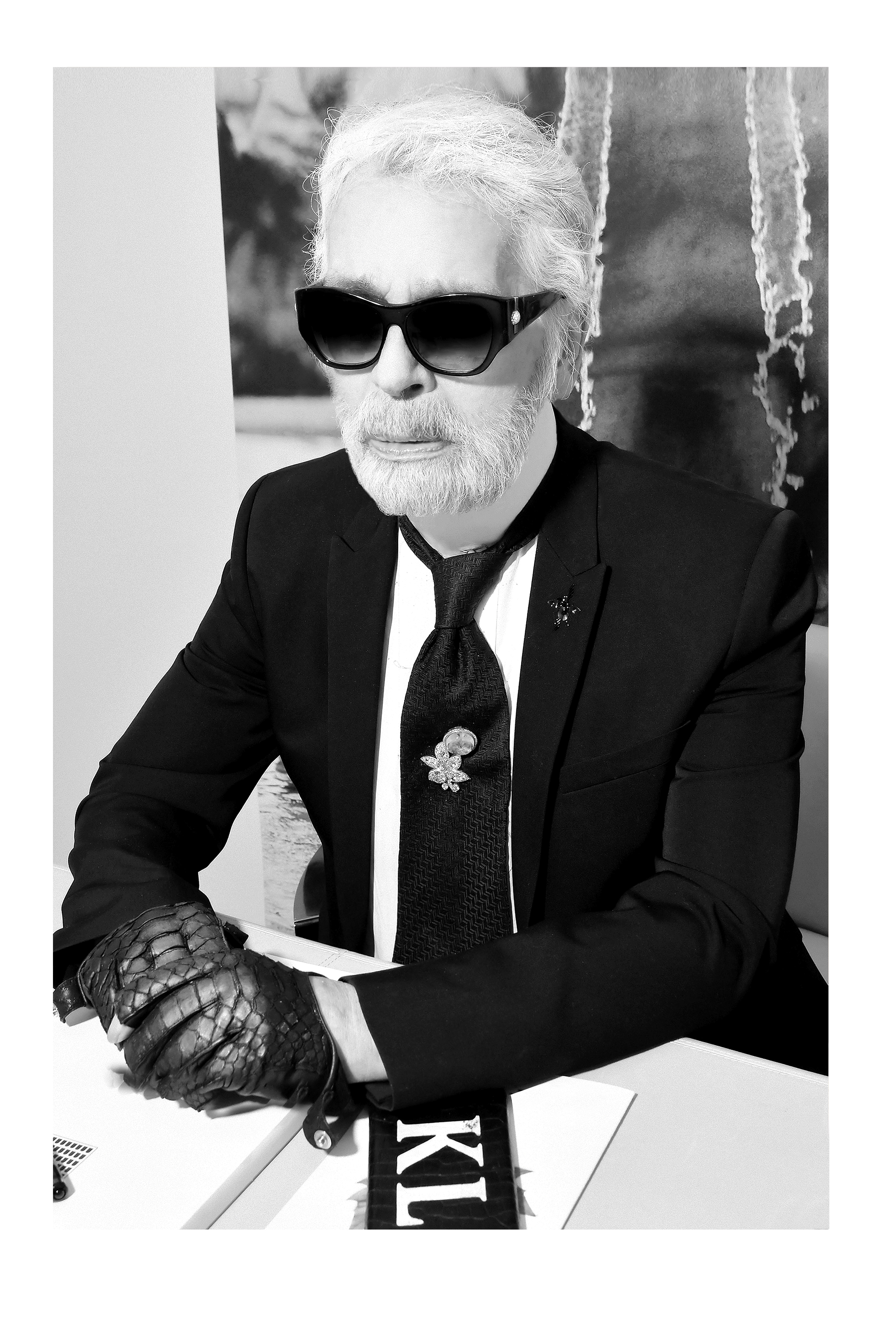 Karl Lagerfeld by Stephane Feugere 2018