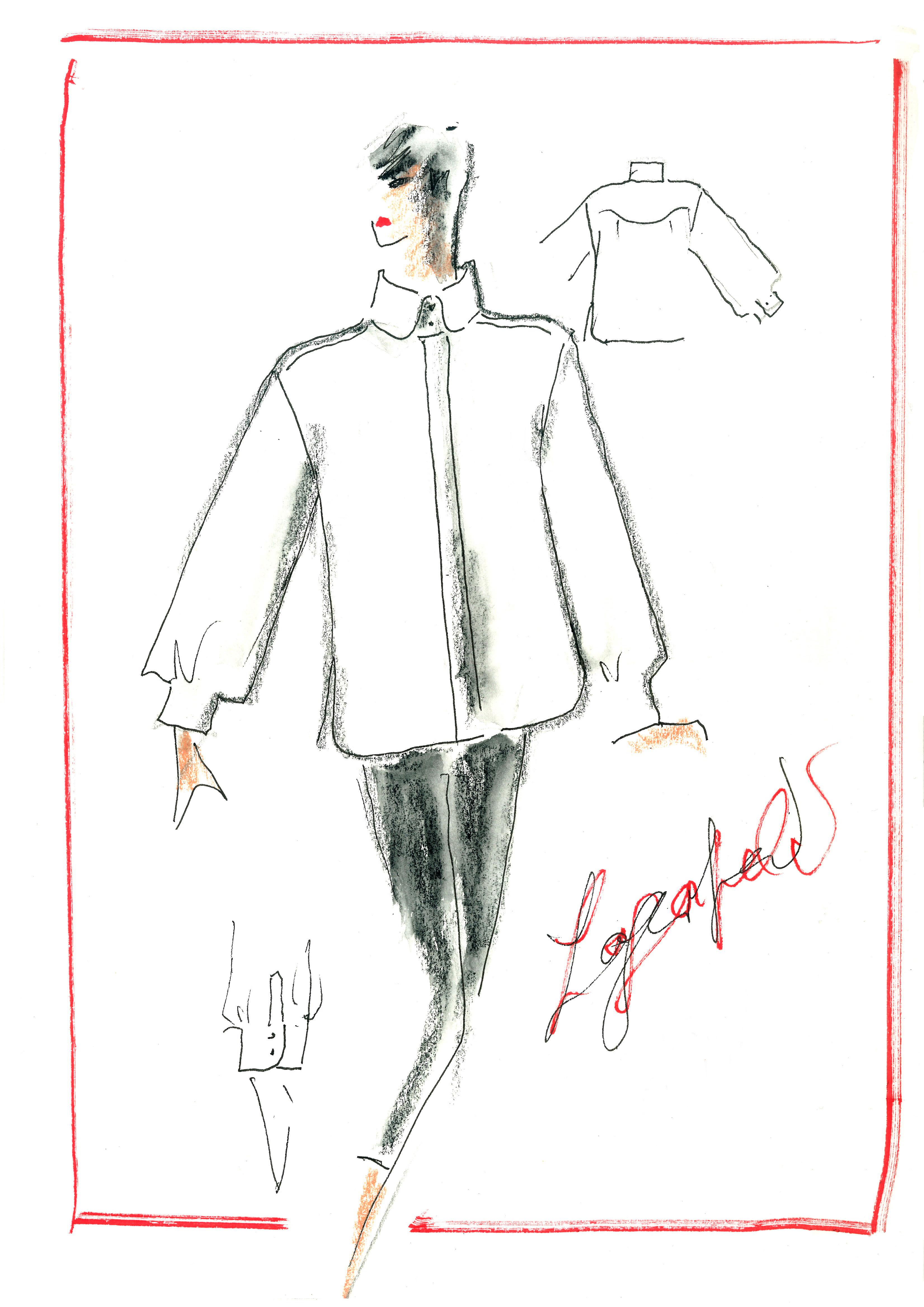 The White Shirt sketch KL