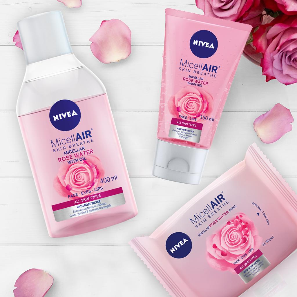 NIVEA RS Instagram MicellAIR Rose Range