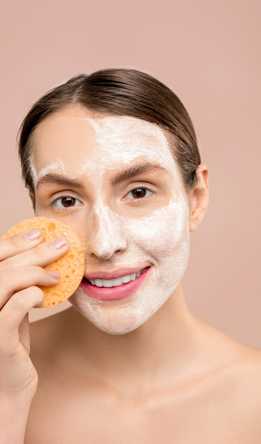 woman with white soap on face 3762473