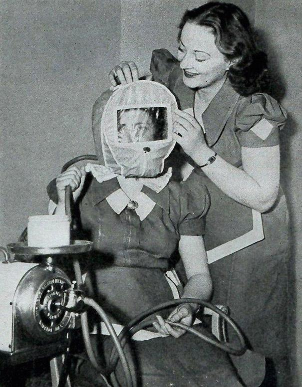 8 Glamour Bonnet from the forties promised to give users a rosy complexion by lowering atmospheric pressure around their head to simulate alpine conditions