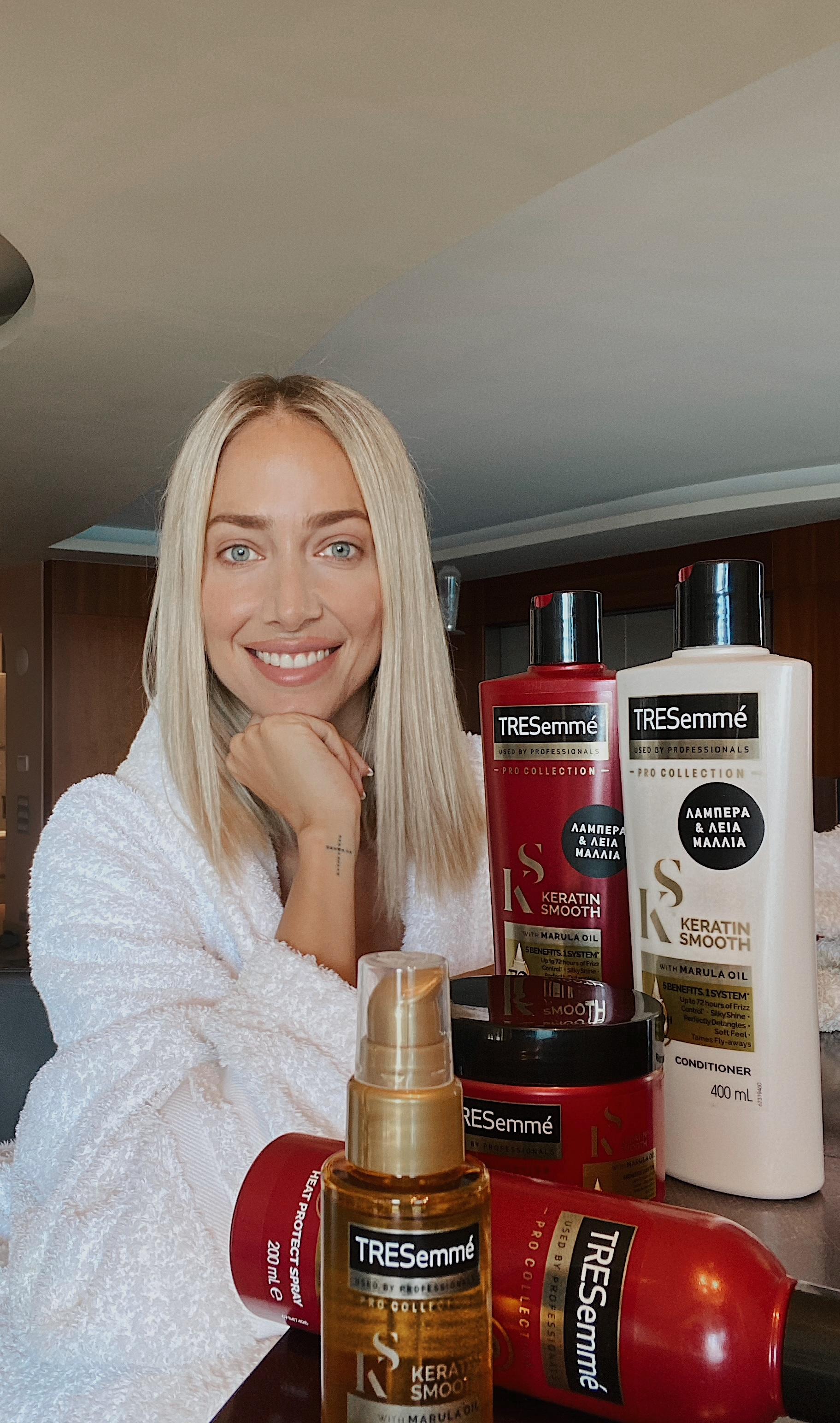 tresemme evaggelinou keratin hair challenge 2