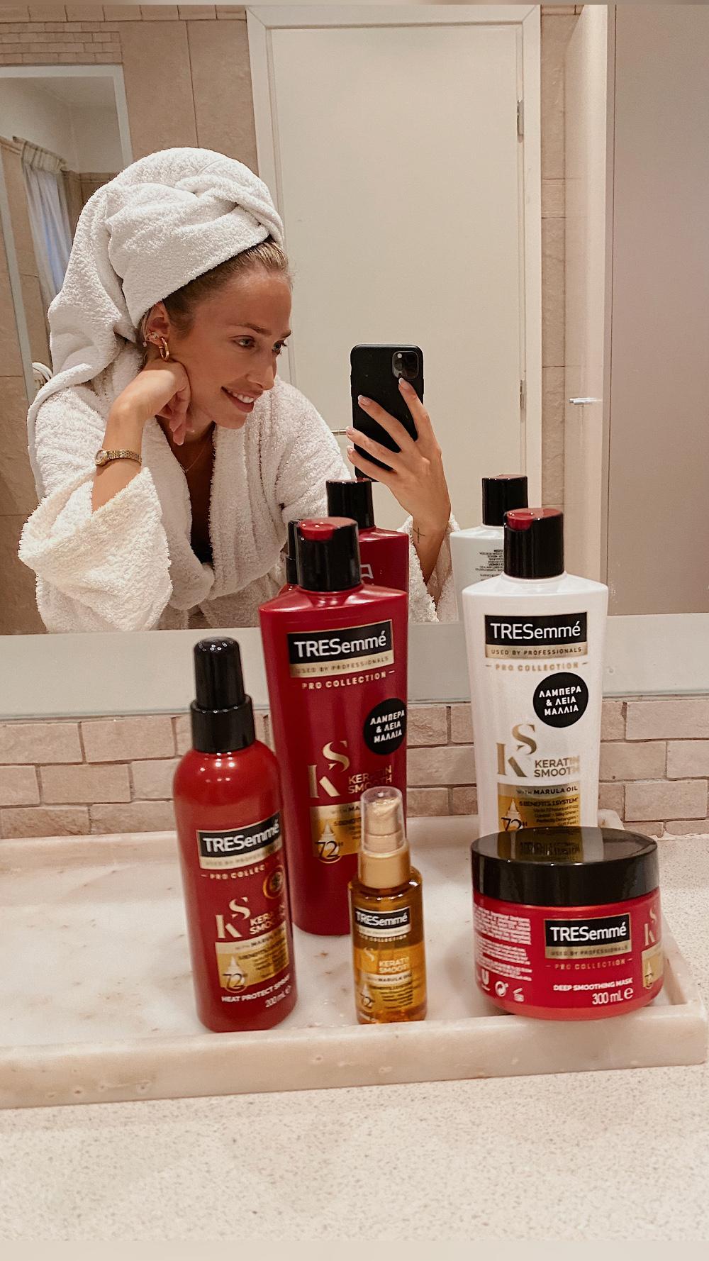 tresemme evaggelinou keratin hair challenge 3