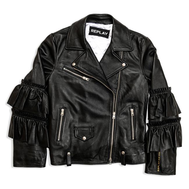 replay biker jacket golden hall